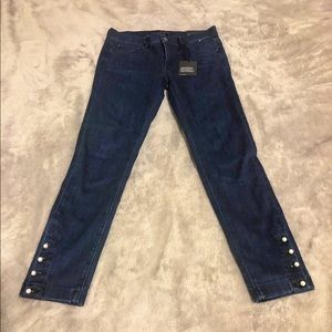 """Ann Taylor """"The Skinny"""" Jean with Pearl details"""